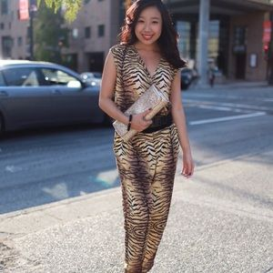 Cheetah print jumpsuit!